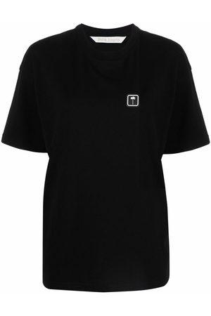 Palm Angels Senhora T-shirts - PXP CLASSIC TEE WHITE