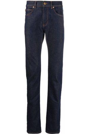 Versace Homem Slim - Contrast-stitch slim-cut jeans