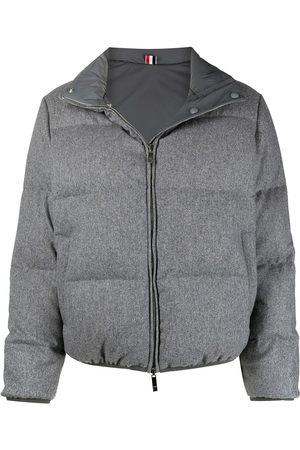 Thom Browne RWB-stripe reversible padded jacket