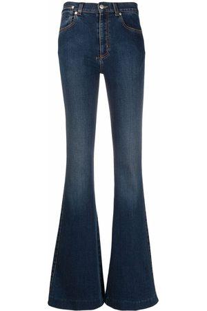 Alexander McQueen Mid-rise flared-leg denim jeans