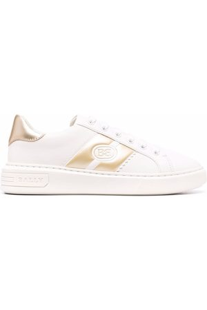 Bally Logo-stripe leather trainers