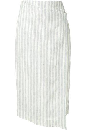 OSKLEN Baltic stripes linen midi skirt