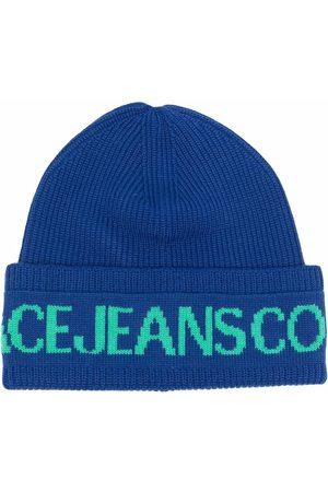 VERSACE Logo-print knitted beanie
