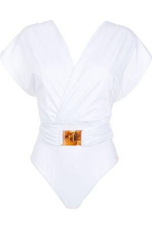Brigitte Crisscross-strap swimsuit