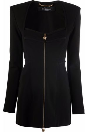 VERSACE Fitted sweetheart-neck blazer