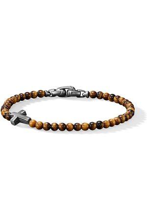 David Yurman Homem Pulseiras - Cross station bead bracelet