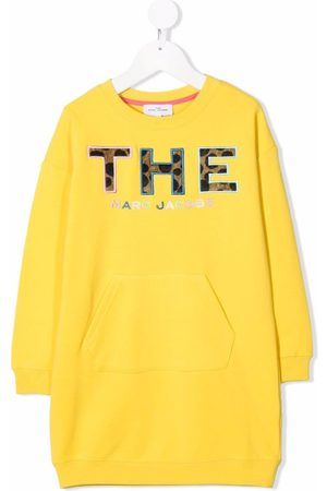 The Marc Jacobs Menina Camisolas com capuz - Logo patch sweatshirt dress