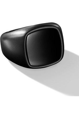 David Yurman Exotic Stone inlay cushion signet ring