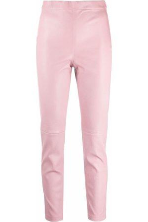 Alberta Ferretti Pull-on leather trousers