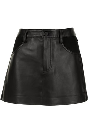 DION LEE A-line leather skirt