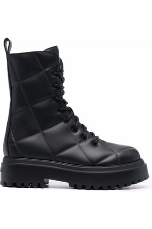LE SILLA Quilted lace-up boots