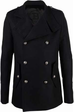 Balmain Notched-lapel double-breasted coat