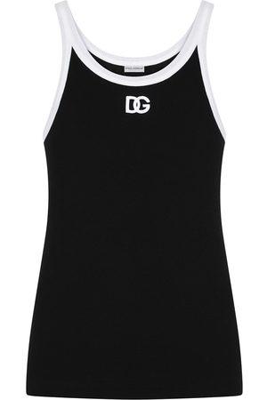 Dolce & Gabbana Homem Tops de Cavas - Logo-print tank top