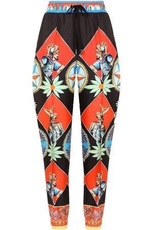 Dolce & Gabbana Senhora Calças - Carreto print track pants