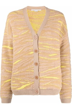 Stella McCartney Tiger-pattern knitted cardigan