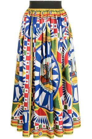 Dolce & Gabbana Geometric-print skirt