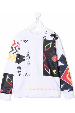 MARCELO BURLON Patchwork cotton sweatshirt
