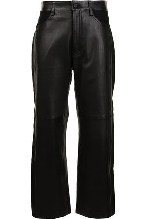 DION LEE Cropped leather trousers