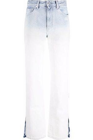 OFF-WHITE DEGRADE DENIM SPLIT SLIM FIT BLUE