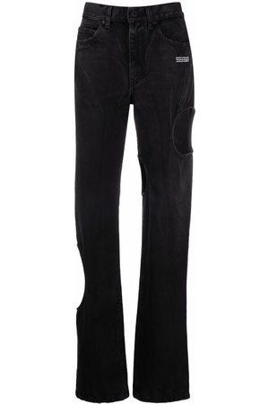 OFF-WHITE Holes detail straight-leg jeans