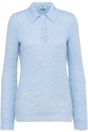 Prada Wool-knitted polo shirt