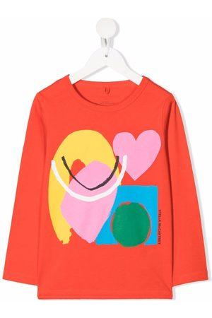 Stella McCartney Paint Heart-print long-sleeve T-shirt
