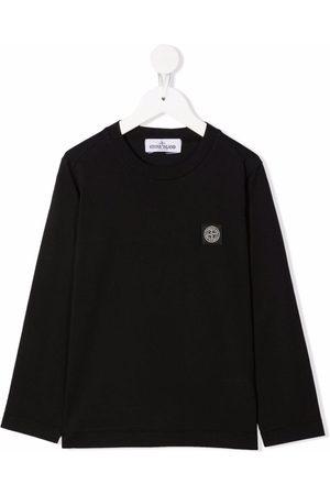 Stone Island Long-sleeved cotton T-shirt