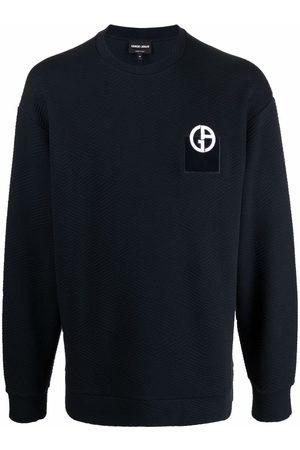 Armani Logo-print knitted jumper