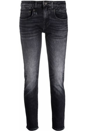 R13 Low-rise cropped jeans