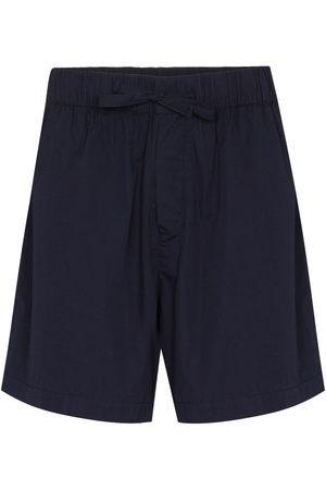 Tekla High-waisted drawstring poplin shorts