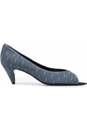 Saint Laurent Monogram-pattern open-toe sandals