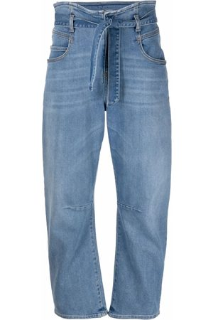 Pinko Paperbag-waist tapered jeans