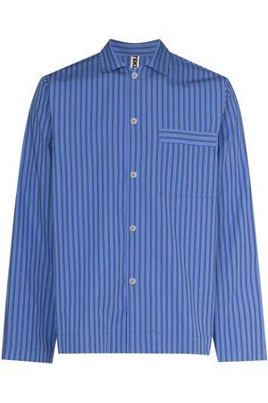 Tekla Homem Formal - Striped poplin pajama shirt
