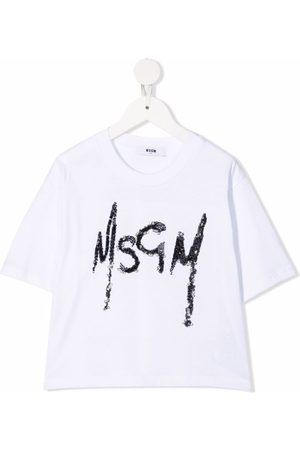 Msgm Sequin-logo T-shirt