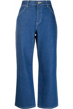Tory Burch High-rise cropped jeans