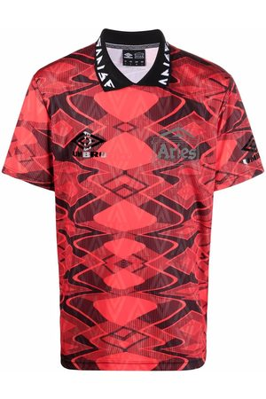 ARIES Logo-print football polo shirt