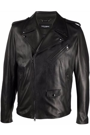 Dolce & Gabbana Multi-pocket leather biker jacket