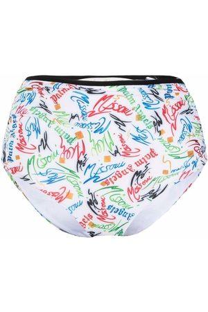 Palm Angels X Missoni Scribble-logo bikini bottoms
