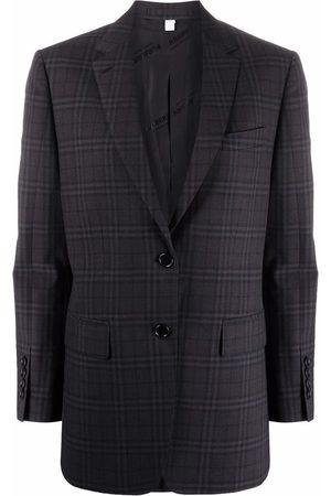Burberry Check pattern blazer jacket