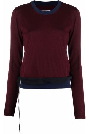Maison Margiela Two-tone knitted jumper