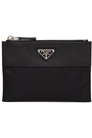 Prada Logo-plaque zip-fastening pouch wallet