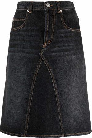 Isabel Marant Straight denim midi skirt