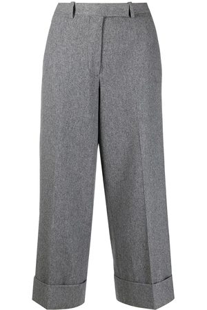 Thom Browne Wool-cashmere blend cropped sack trouser