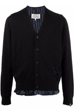 Maison Margiela Homem Camisolas - Distressed-detail knit cardigan