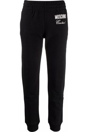 Moschino Embellished-logo track pants
