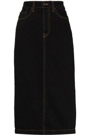 WARDROBE.NYC Senhora Saias-lápis - High-waisted denim pencil skirt