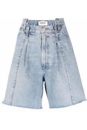 AGOLDE Patch-detail denim shorts