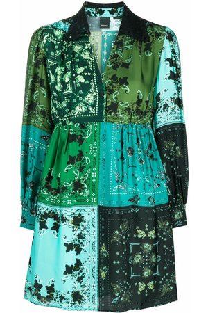Pinko Patchwork-detail shirt dress