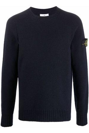 Stone Island Logo-patch crew-neck jumper