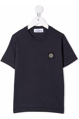 Stone Island Menino T-shirts & Manga Curta - Logo patch T-shirt